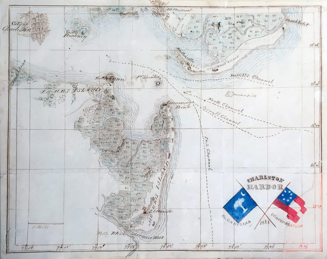 Antique Map #29. Charleston Harbor