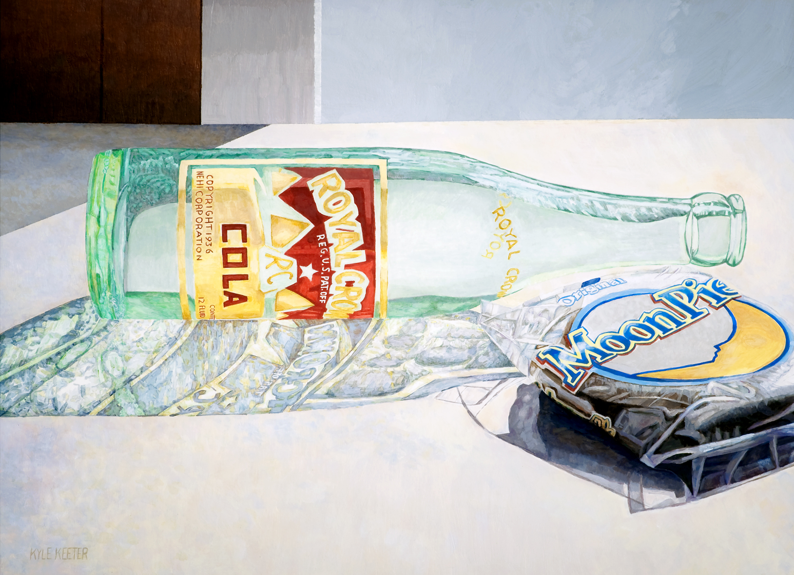 "Kyle Keeter, Southern Still Life, acrylic, 24""x30"""